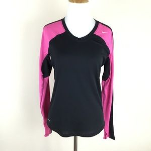 Nike Running V-Neck shirt Long Sleeve Shirt Small